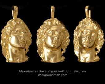 Alexander as the sun god Helios, necklace pendant