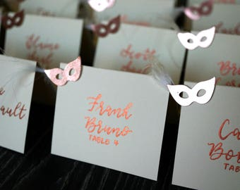 Hand Lettered Place Cards / Modern Calligraphy / Meal Choice Stickers