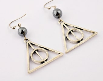 Earrings Harry Potter with natural Pearl