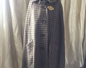 Gorgeoys 50s/60s Brown Wool Cape