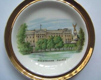 Vintage Buckingham Palace Souvenir Pin Dish, Bowl, Saucer