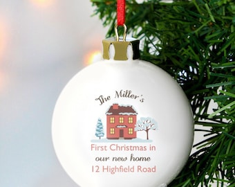 Personalised New Home Christmas Bauble - Christmas Decoration