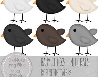 Baby Chicks Clip Art, Baby Chicks PNG, Digital Scrapbooking, Scrapbooks, Colored Baby Chicks, Digital Chicks, Digital ClipArt