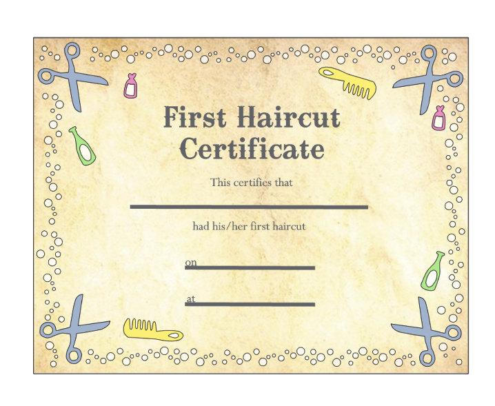 baby u0026 39 s first haircut certificate keepsake laminated