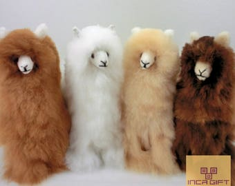 13 IN 11 IN Handmade Alpaca Stuffed Animal Plush Alpaca 13 -11 IN/ Llama  fur teddy alpaca handmade Peruvian alpaca fur stuffed animal toy