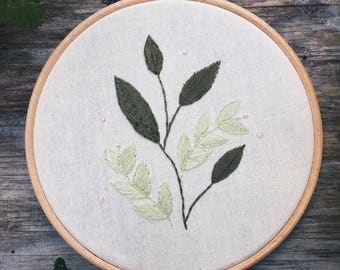 Hand Stitched Botanical Embroidery