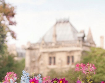 Paris Photography - Flowers at Notre Dame, Fine Art Travel Photograph, French Wall Decor, French Decor