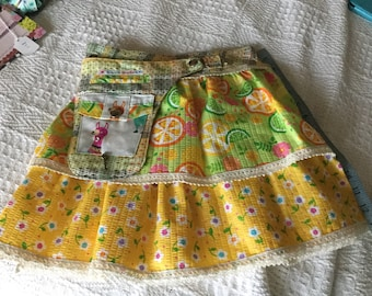 Designer Summer skirt for 6-8 year old. Handmade by SunnycalaCG