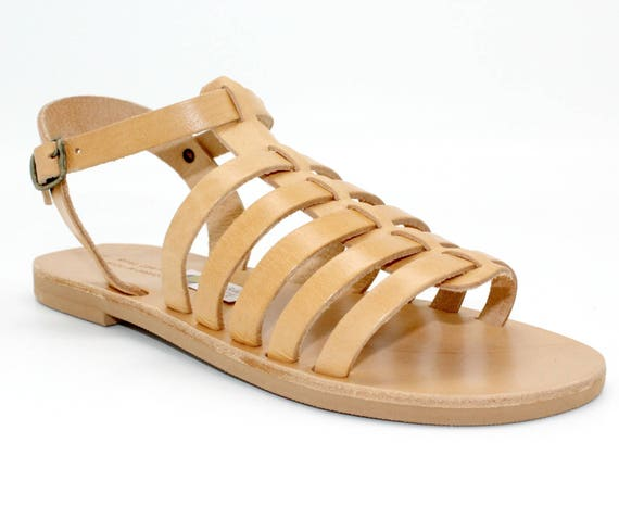 Greek leder gladiators sandals nu cuir leather handmade sandalen grecques sandals sandals tan multibrides sandales Leather pieds rxfwTrq