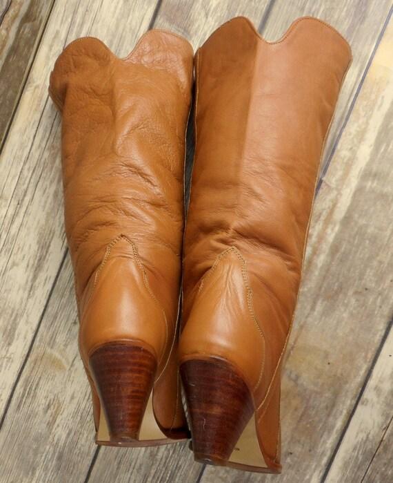 Boots Acme Cowboy Brown Womens Western Size Fashion Tan M Vintage 5 Cowgirl 6 55Arwfq
