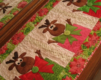 Santa's Helpers PDF Christmas Table Runner Pattern by Cleo and Me