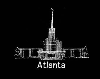 Embroidered Atlanta Georgia Temple