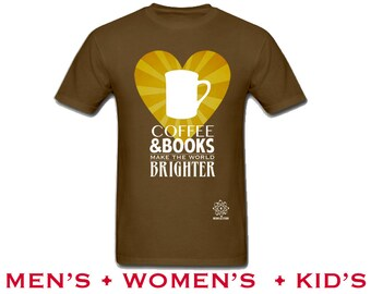 Coffee Lover Book Shirt. Book Club Gift. I Love Books, Librarian Tshirt, Bookworm Gift, Coffee and Books Book Lovers Reading Gift for Reader