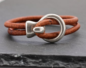 Mens Bracelet , Simple Leather Bangle , Mens Leather Bracelet , Mens Jewelry , Gift For Man , Fathers Day , Unisex Jewelry , Amy Fine Design