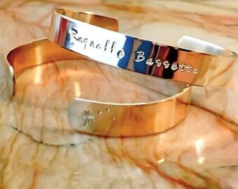 Name Stamped Metal Bracelet - Custom Hand Stamped Bracelet - Personalized Bracelet Cuff - Personalized Stamped Bracelet