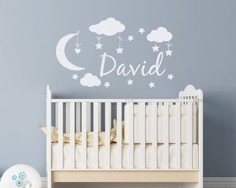 Baby Name Decals Etsy - Baby name wall decals