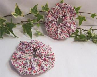 Purple Liberty of London Kimberly hair scrunchie,