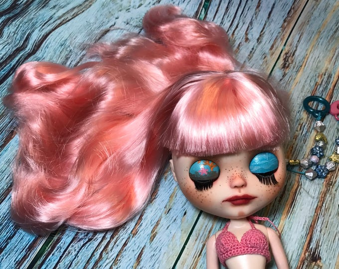 Custom CORALIA Mermaid Hybrid OOAK Blythe Doll by Sassy Grace
