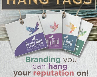 500 Custom Hang Tags - Custom Design and Printing - Double Sided UV Coating or Matte Finish
