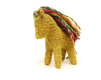 Knitted Horse Toy, Fantasy Collection, Perfect gift for babies, kids and adults