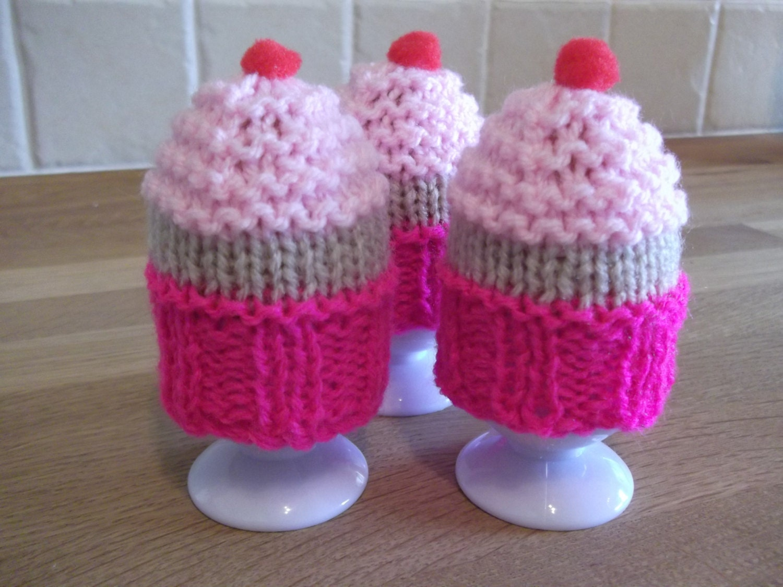 Egg Cosy Cupcake style Knitting Pattern