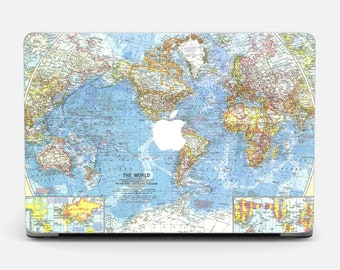 World map decal etsy world map macbook pro 15 skin macbook stickers air 13 skin macbook 13 decal pro 15 gumiabroncs Images