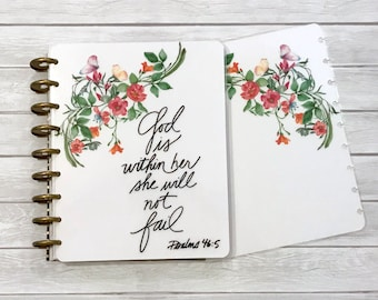 MAMBI Classic Happy Planner Cover Set - Laminated MAMBI Cover - Christian Planner Cover - Disc Bound Cover - God is Within Her