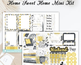 Home Sweet Home Mini Kit | Planner Stickers | ECLP