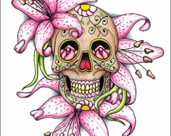 Lilly Sugar Skull Decal ***Free Shipping***