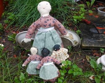 Dolls set Soft Homespun Country Primitive-
