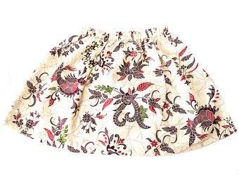 Girls Skater Skirt - White, Kids Clothing,  Girls Mini Skirt, Boho Girls, Girls Skirt, Babies clothing, Toddlers Skirt