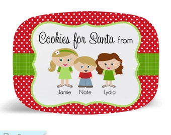 CUSTOM Kidlet Cookies for Santa Tray/Platter Personalized