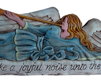 Angel Wall Decor Make A Joyful Noise Unto the Lord