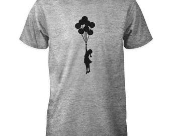 Banksy Balloon Girl T-Shirt - Girl With Balloons