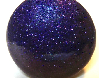 Custom made One of a Kind Furniture and Cabinet Knob-Purple and Teal Metal Flake