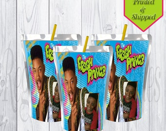 Fresh Prince of Bel-Air Custom Juice Pouch Labels - Fresh Prince - Juice Pouch -  Birthday - Personalized - Digital - Printable - Printed