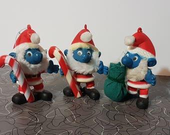 Vintage 1980's Smurfs Christmas Ornament Christmas Ball