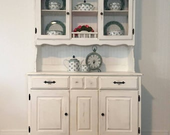 Vintage Distressed Farmhouse Style China Hutch - Example
