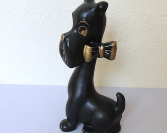 Black Scotty Dog Figurine by Ries Japan