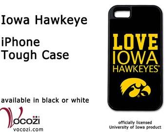 Iowa Hawkeye iPhone 7 Tough Case - Love Iowa Hawkeyes Yellow - iPhone 5/5s/5c iPhone 6 Plus