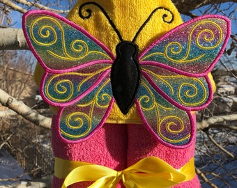 Butterfly Hooded Bath Towel