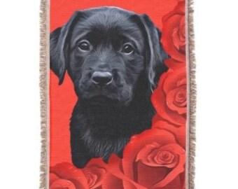 Black Labrador 4BMV Throw Blanket - Black Lab Gifts - Labrador Gifts - Black Lab Blanket - Labrador Decor -Dog Lover Gift - Dog Blanket