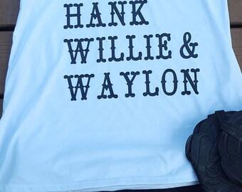 Cash, hank, willie and waylon tank top