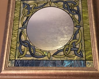 Stained Glass Mirror with Keltic Design