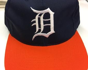 Deadstock Vintage Detroit Tigers MLB Baseball The Cap Snapback Hat