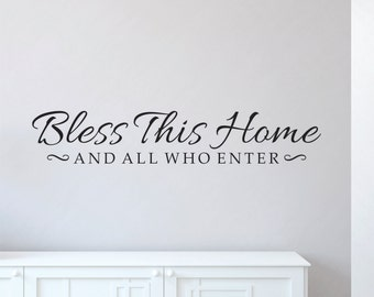 Wall Decals - Bless This Home Decal - Bless This Home Wall Decal - Home Wall Decal - Bless This House - Bless This Home