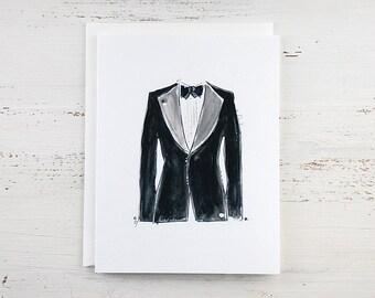 Black Tuxedo Note Card