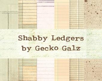 Shabby Ledgers Mini Paper Pack
