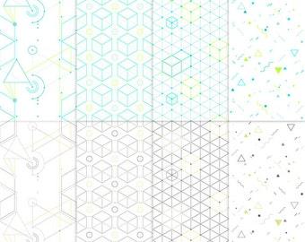 Hip geometric seamless pattern backgrounds