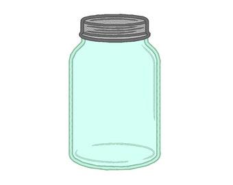 Canning Bottle Mason Pint Quart Jar Applique Machine Embroidery Design